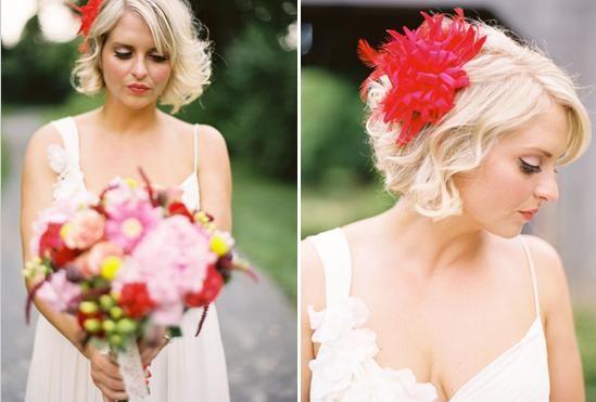 La coiffure du jour a piquer coiffure carr plongeant c r monie coiffure bijou bouquet - Coiffure carre mariage ...