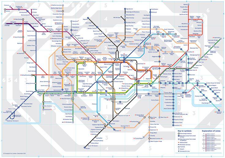 U bahn TFL netzplan von London