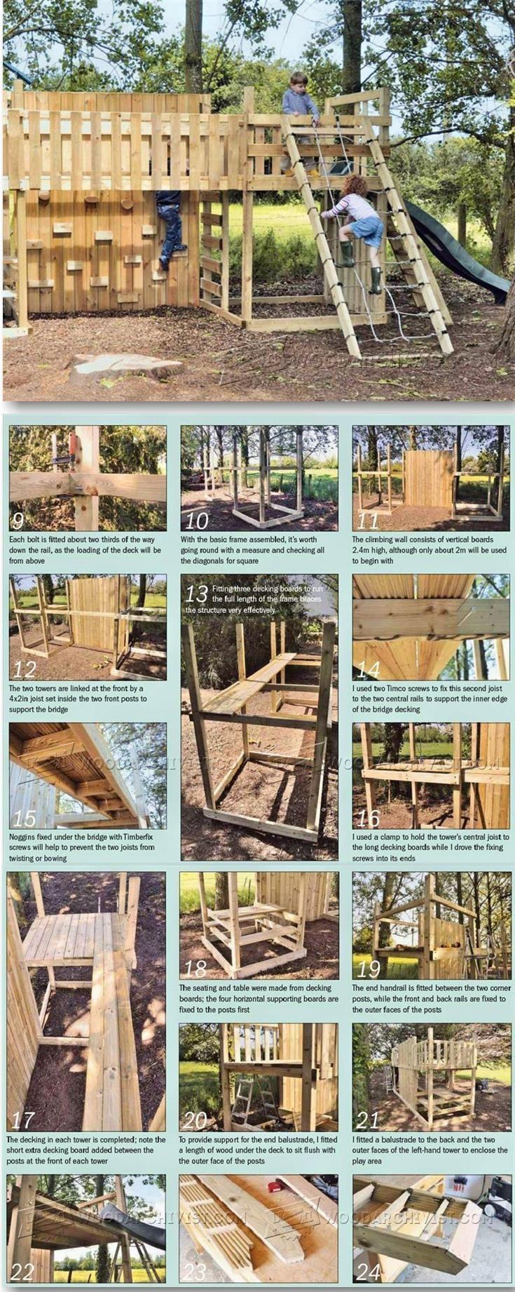 Kids Climbing Frame Plans - Children's Outdoor Plans and Projects   WoodArchivist.com