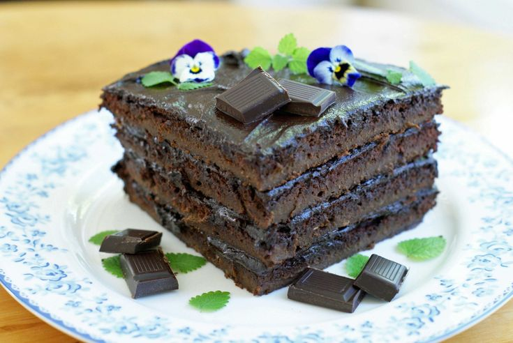 Sjokoladekake: Saftig og aldeles nydelig på smak.