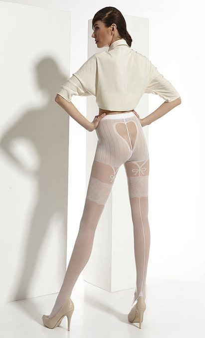 Tights (strømpebukse) fra Adrian. Bryllup serien. Elegant, romantisk og sexy.    Flotte til bruden, eller andre anledninger der en treng hvite tights.
