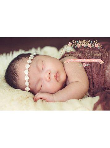 June (Pearl) Birthstone Shimmer Headpiece | Enchanted Shimmer Designs