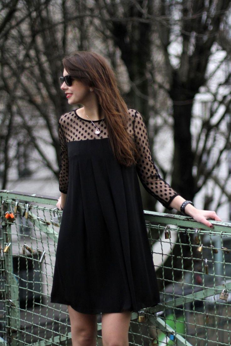 Polka dot little Black dress