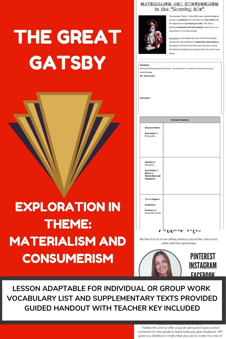 The Great Gatsby Exploration In Themes Materialism And