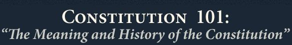 Free Online Constitution 101 Lecture Series with Study Guide (for older students & to listen as a family) FreeHomeschoolDeals.com