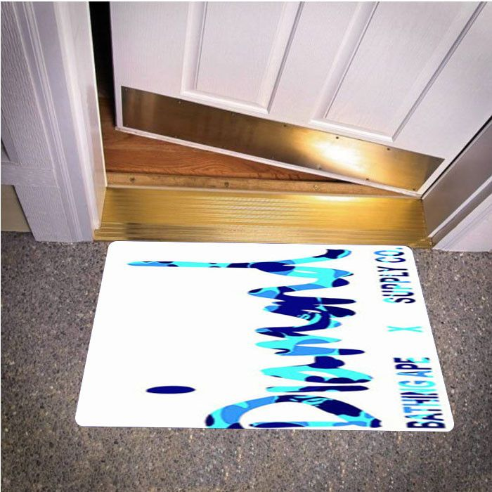 DIAMOND SUPPLY CO BATHING APE BLUE BEDROOM CARPET BATH OR DOORMATS