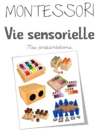 Cahier de présentations - vie sensorielle
