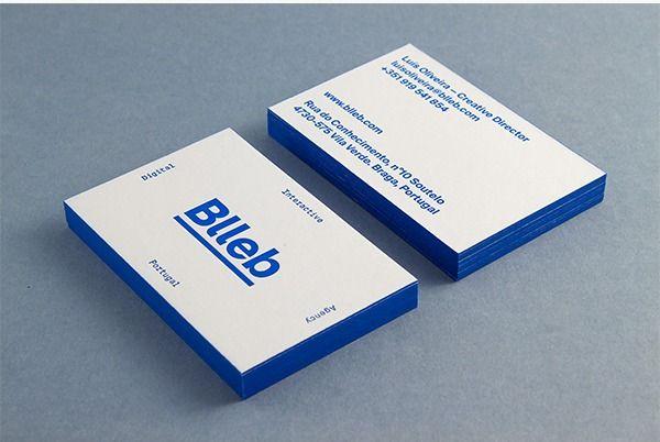 Blleb Letterpress Business Card on Behance — Designspiration