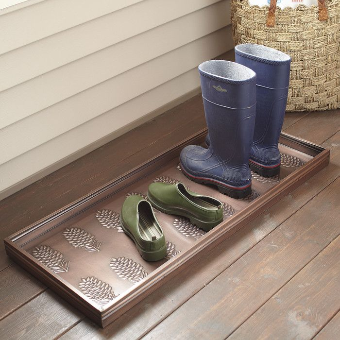 Birch Lane Pinecone Galvanized Steel Boot Tray | Birch Lane