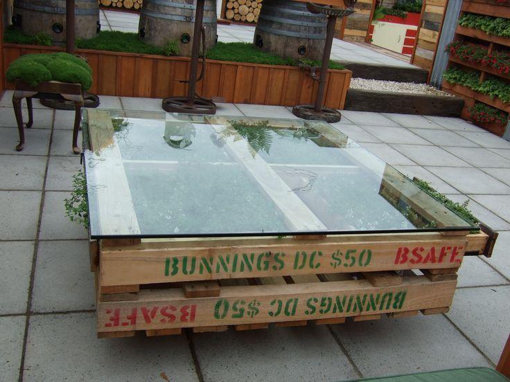 Pallet coffee table from H & S Landscape Design - Supreme Winner 2013 Ellerslie Flower Show