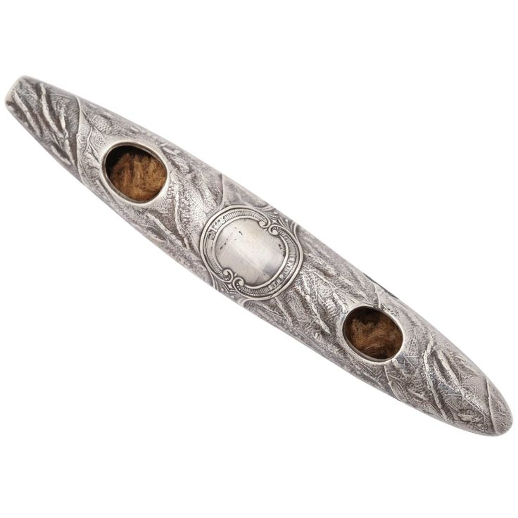 Sterling Silver Cigar Humidifier | From a unique collection of antique and modern tobacco accessories at https://www.1stdibs.com/furniture/more-furniture-collectibles/tobacco-accessories/
