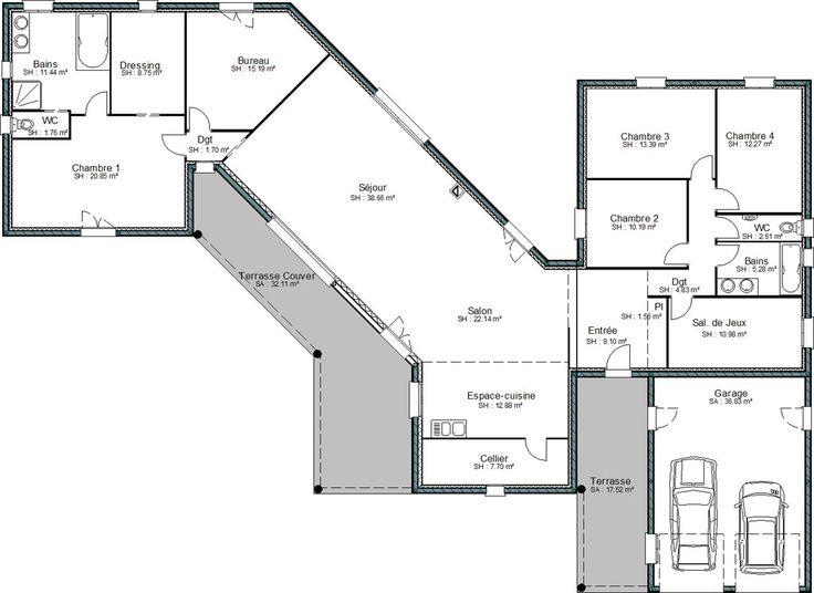 Plan maison en v gratuit plans de maisons Pinterest - faire ses plan de maison gratuit