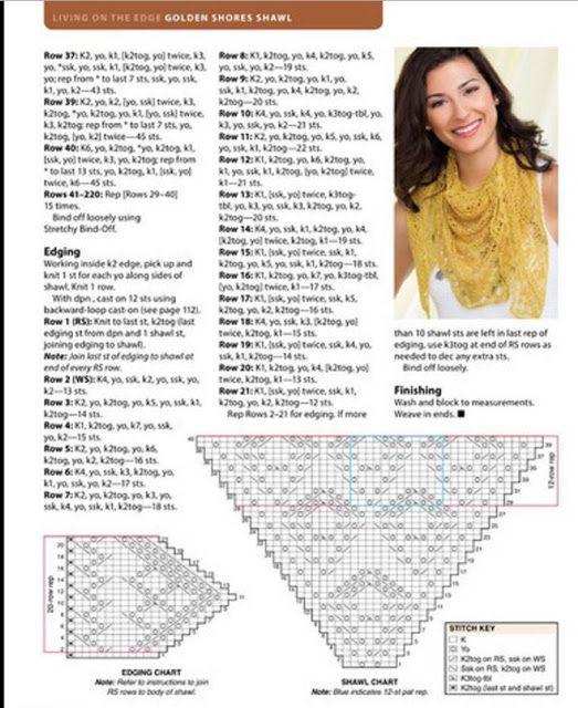 Kira knitting: Knitted shawl no. 9