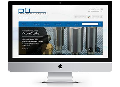 Precision Acoustics needed a fresh forum for their world renowned acoustics' technology. We created a site that selected simplicity to front a capable backend functionality #website #webdesign #acoustictechnology #precisionacoustics