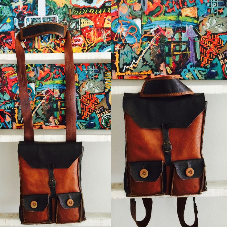 2-in-1 bag; backpack which turns into a satchel. By Jenny South.