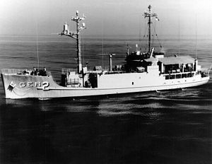 USS Pueblo (AGER-2) is an American ELINT and SIGINT Banner-class technical research ship (Navy intelligence) which was boarded and captured by North Korean forces on 23 January 1968, in what is known as the Pueblo Incident