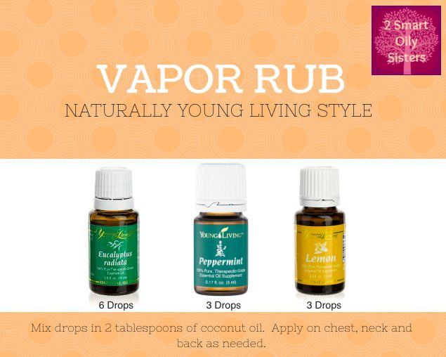 Young Living Essential Oil Vapor Rub Recipe 3 Drops Lemon
