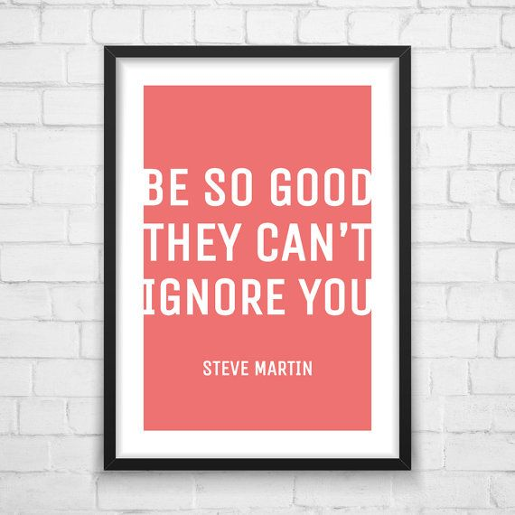 Printable Wall Art Be so good Modern от MotivationalThoughts