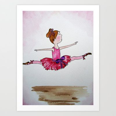 The Little Ballerina 2 Art Print by Natalie Murray - $18.00