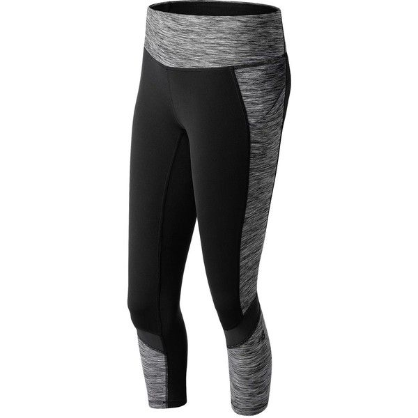 New Balance 71114 Women's Premium Performance Printed Fashion Crop ($85) ❤ liked on Polyvore featuring activewear, new balance and new balance activewear