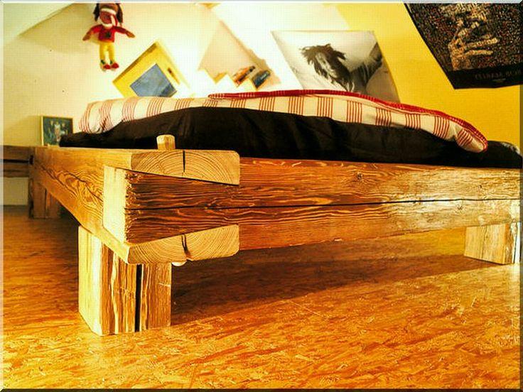 Ágykeret valódi antik fából