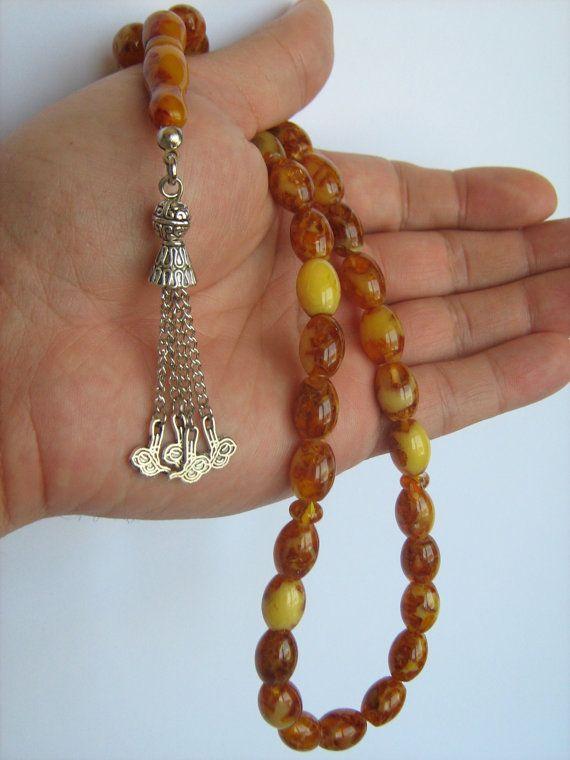 Amber scented 33pcs Islamic Prayer Beads Misbaha Tesbih by Tesbih, $12.99