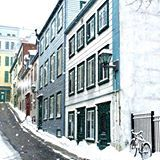 Snowy streets of Quebec City ❄️