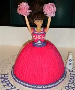 cheerleader cake...Madeleine's  birthday is on a comp day!