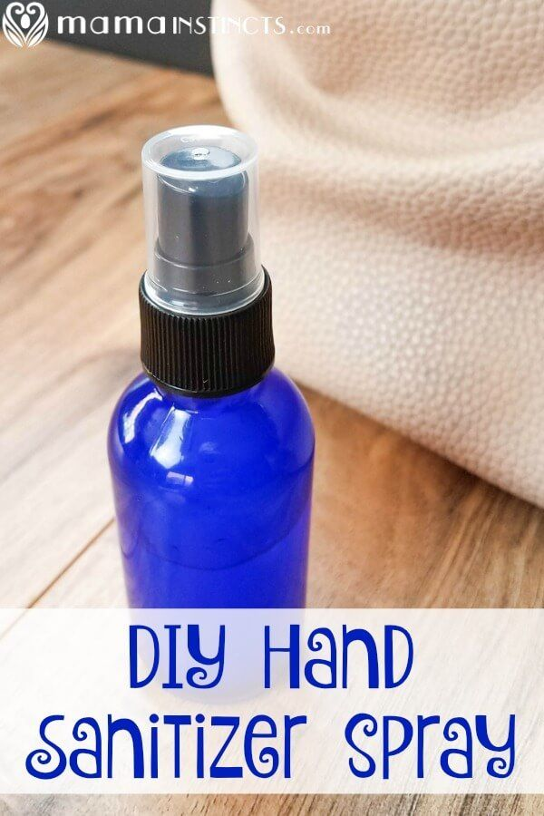Diy Hand Sanitizer Spray Recipe Hand Sanitizer Diy Alcohol Free