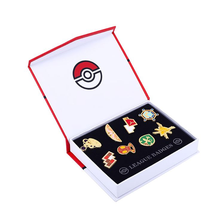 Pokemon Badges Collection - Gym Badges with Case
