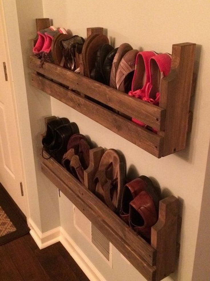 25+ Simple Wall Shoes Rack Ideas You Can Make Yourshelf ...