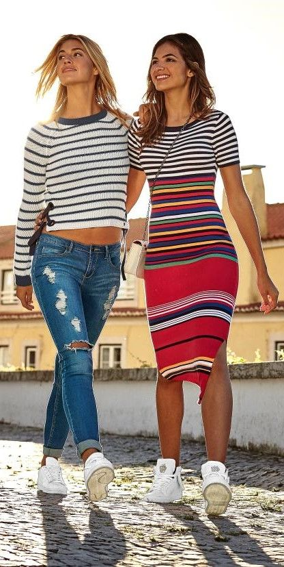 Andere Städte erkunden? Geht nur mit der besten Freundin! Und weil zusammen alles mehr Spaß macht, findest du hier zwei Outfits für ein unvergessliches Wochenende! Wer trägt was?