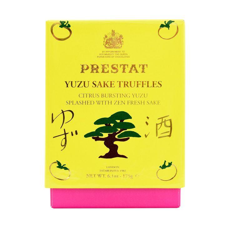 Prestat Luxury Chocolates   Yuzu Sake Truffles 175g