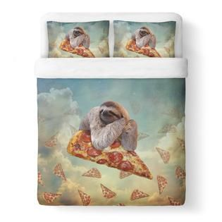 Sloth Pizza Duvet Cover Set