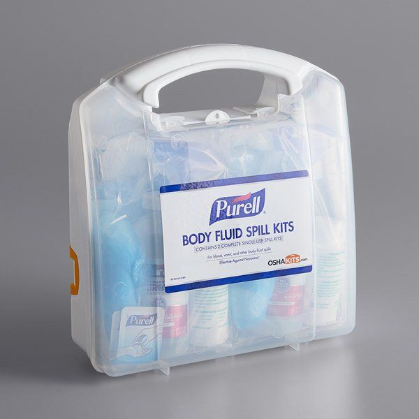 Purell 3841 08 Clms Body Fluid Spill Kit With Clamshell Case 2