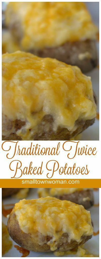 These Traditional Twice Baked Potatoes are filled with creamy potatoes mixed with sour cream, chicken broth, provel cheese, cheddar cheese and a perfect blend of spices.