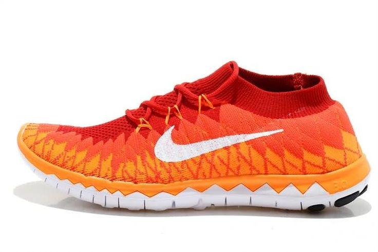 Nike Free 3.0 Flyknit 2014 Herre Løpesko Rød Oransje