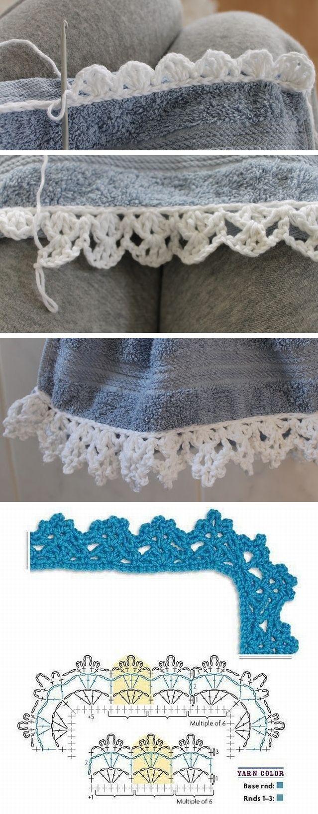 Lace edging pattern diagram . . . . ღTrish W ~ http://www.pinterest.com/trishw/ . . . . #crochet