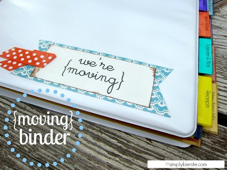 A Moving Organization Binder | simplykierste.com