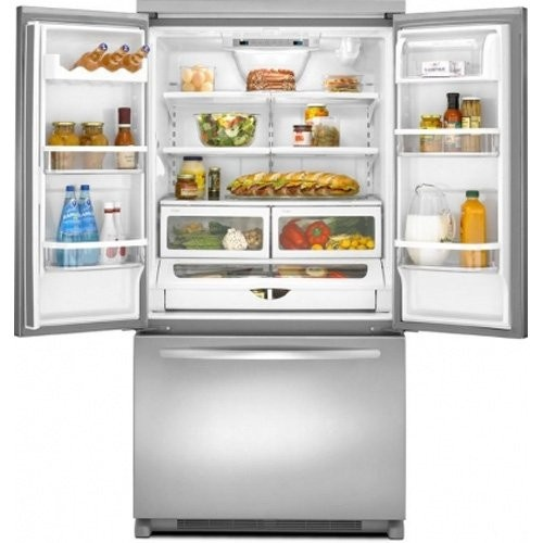 Kitchenaid 30 19 7 Cu Ft French Door Refrigerator With: Architect II 19.6 Cu. Ft. Stainless Steel Counter Depth French Door Refrigerator