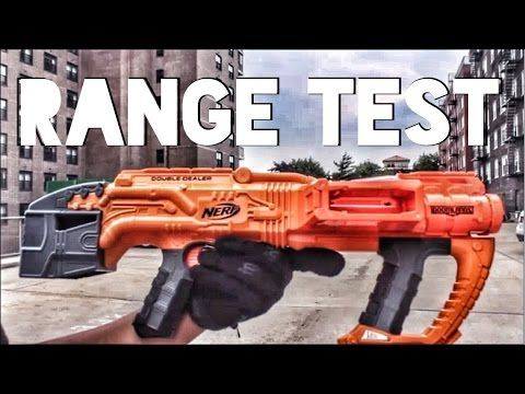 This is the official Nerf Gun Attachments Nerf Doomlands Double Dealer Range Test!