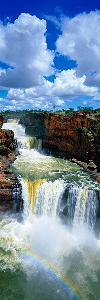 The power of the waterfalls and the glimmer of a rainbow.: Beautiful Waterfalls, Australia Travel, Mitchell Fall, National Parks, Westernaustralia, Places, Water Fall, Westerns Australia, Western Australia