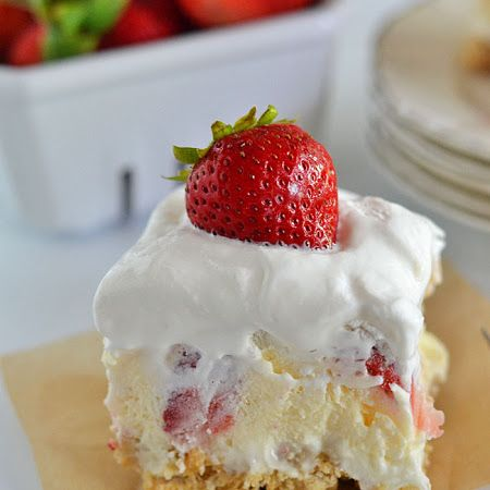 Strawberry Cheesecake Lush. Pinterest win!!! Delicious!!!! Everyone went back for seconds. One tip: double the cool whip.