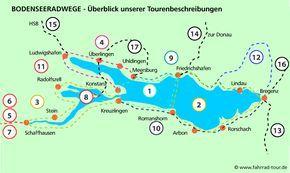 Karte Bodenseeradweg