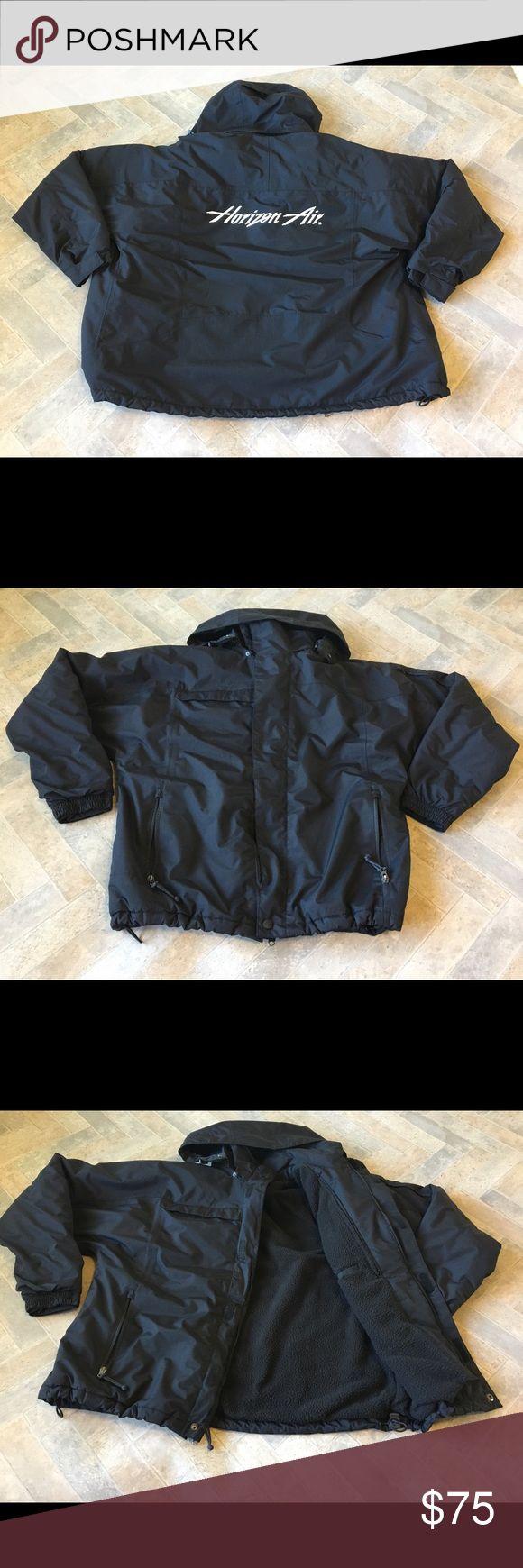 Horizon Air Utility jacket Detachable Zipper hoodie. 4 Zip pockets on outside. 1 Velcro pocket inside. port authority Jackets & Coats