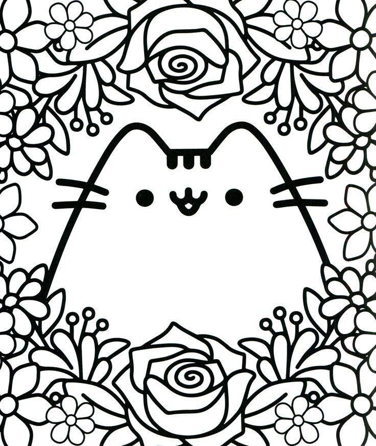 94 Best Pusheen Coloring Book Images On Pinterest Books Pages For Kids Cute Coloring Pages Pusheen Coloring Pages Cat Coloring Page