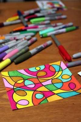 sharpies + doodle = art :)
