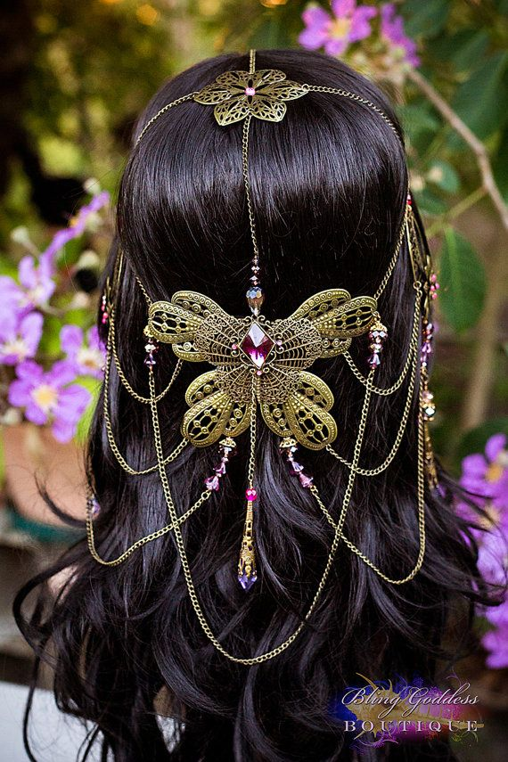 Beautiful Amethyst Butterfly Bridal by BlingGoddessBoutique, $129.00