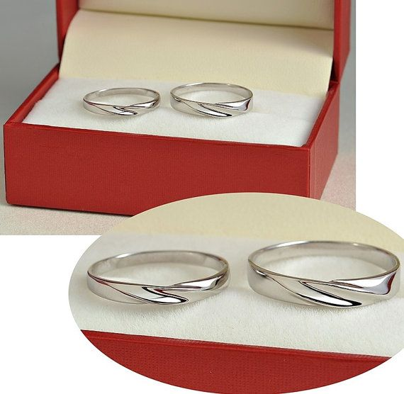 2pcs Free Engraving Platinum Rings Wedding Couple Rings Lovers Rings His And Hers Promise