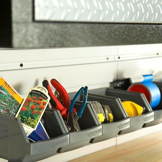 Bin There: Plastic Bins, Organizations Storage, Garage Organizations, Storage Bins, Organizations Garage, Garage Storage, Garage Ideas, Tools Bins, Organizations Tools
